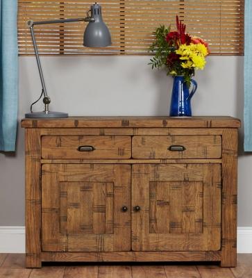 Baumhaus Heyford Rough Sawn Oak Sideboard - Small