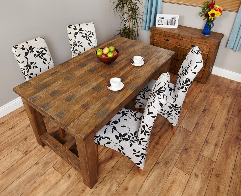 Baumhaus Heyford Rough Sawn Oak Dining Table - 160cm Rectangular