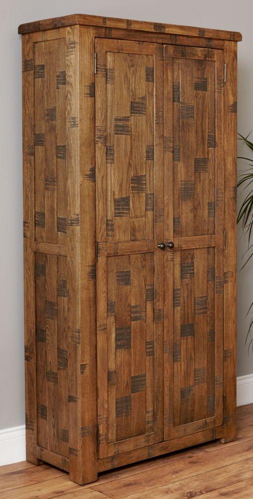 Baumhaus Heyford Rough Sawn Oak Shoe Cupboard - Large