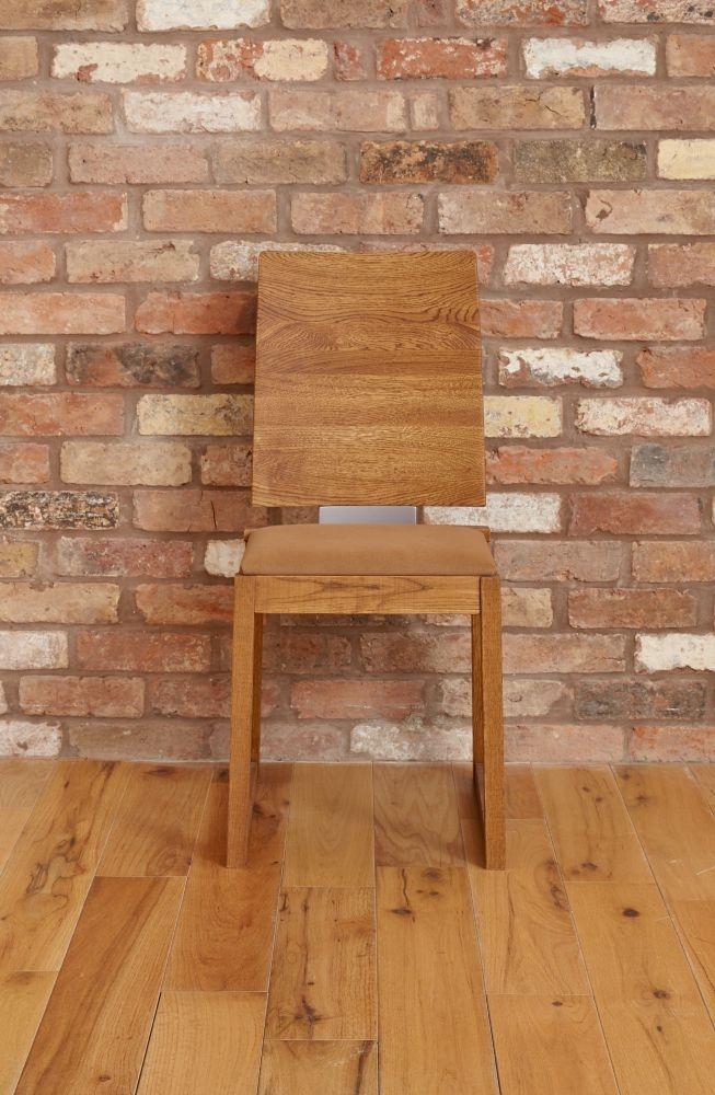 Baumhaus Olten Dark Oak Cappuccino Dining Chair (Pair)