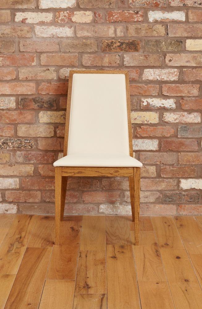 Baumhaus Olten Dark Oak Cream Dining Chair (Pair)