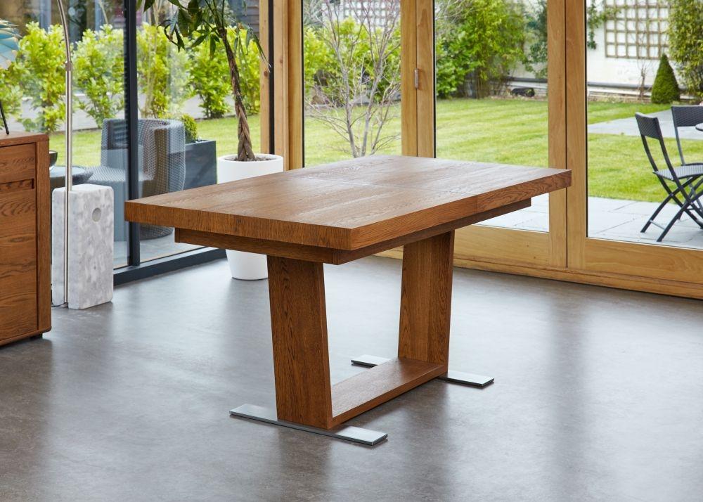 Baumhaus Olten Dark Oak Dining Table - Extending
