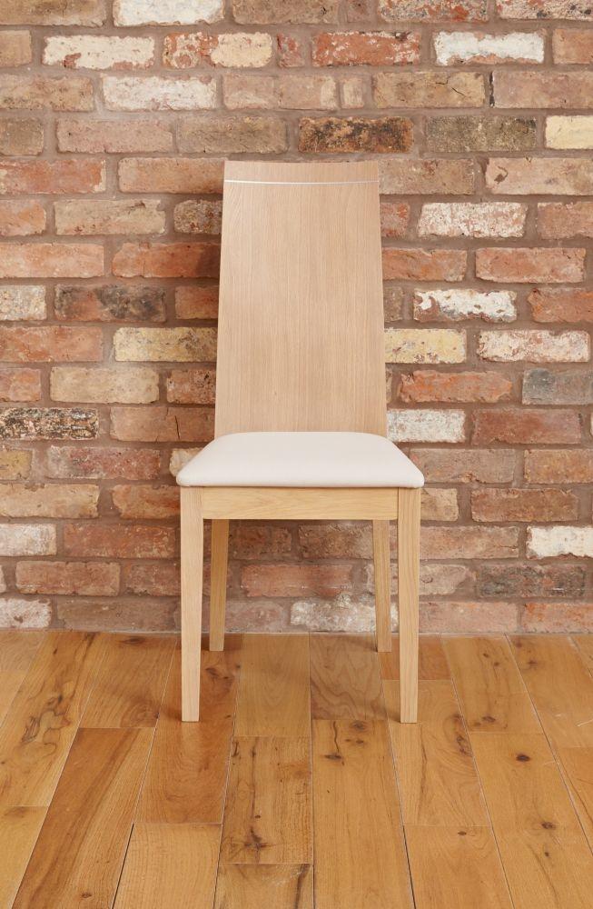 Baumhaus Olten Light Oak Uno Stone Dining Chair (Pair)