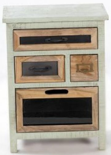 Artisan Painted Chest of Drawer - 4 Drawer