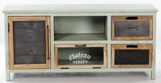 Artisan Painted TV Unit - 2 Door 2 Drawer