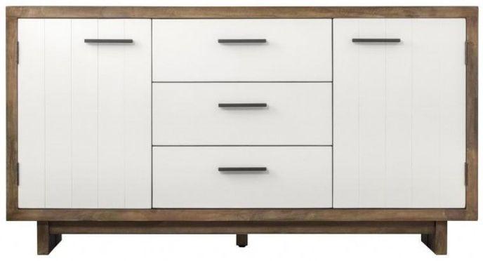 Avoca Pine Satin White Sideboard - Wide 2 Door