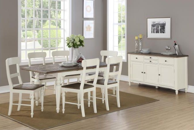 Berkley Painted Dining Set with 6 Dining Chairs