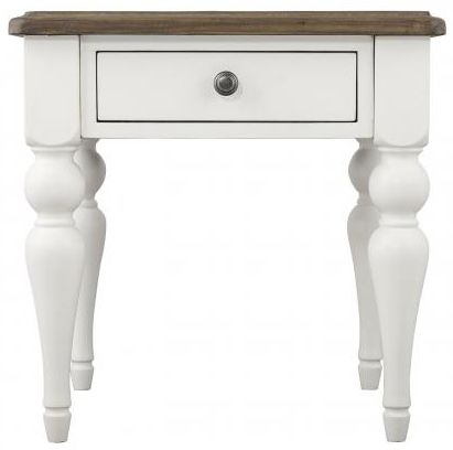 Berkley Painted 1 Drawer Lamp Table
