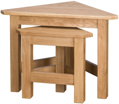 Vancouver Select Oak Nest of Tables - Corner