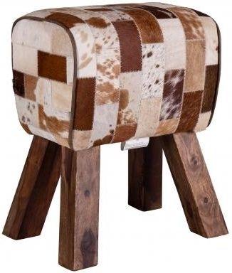 Clearance - Leather Pommel Grey Horse Stool - New - FSS8858