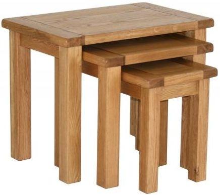 Vancouver Select Oak Nest of Tables
