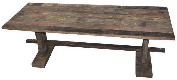 Reclaimed Teak Rustic Rectangular Dining Table - 200cm