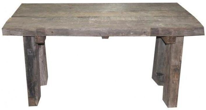 Reclaimed Teak Rustic Plank Rectangular Dining Table - 150cm