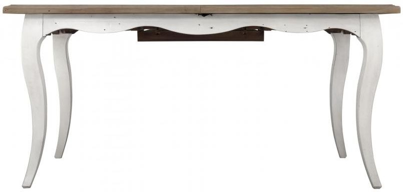 Boulez White Painted Dining Table - 160cm-210cm Rectangular Extending