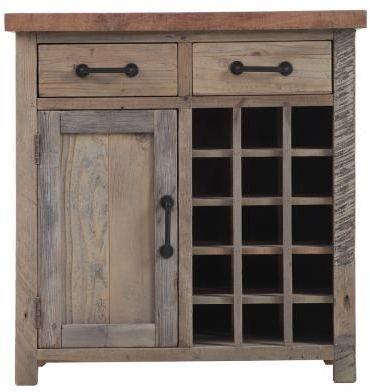 Cal Stadium Wooden 1 Door 2 Drawer Wine Table