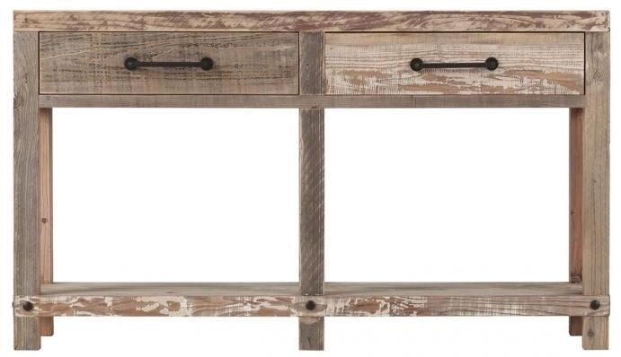 Cal Stadium Wooden 2 Drawer Console Table