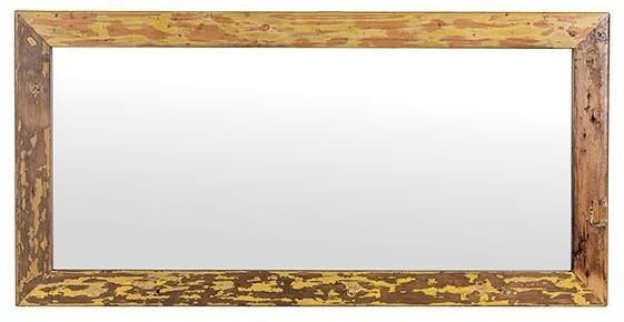 Cal Stadium Wooden Rectangular Mirror - 24cm x 36cm