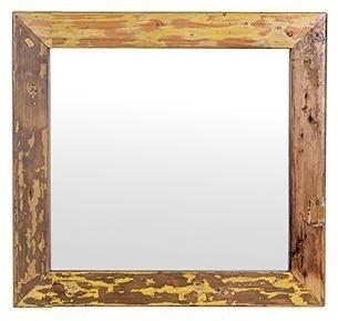 Cal Stadium Wooden Square Mirror - 28cm