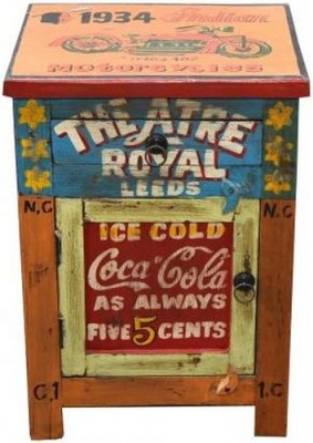 Hand Painted Vintage Bedside Cabinet
