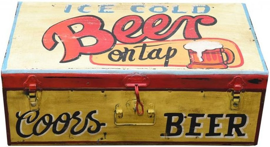 Hand Painted Beer Iron Trunk