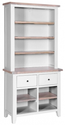 Chalked Oak and Light Grey 2 Drawer Dresser