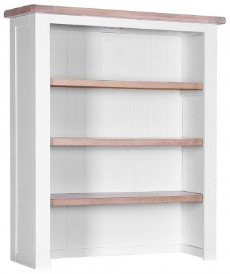 Chalked Oak and Light Grey Hutch - 3 Shelves