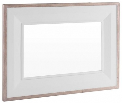 Chalked Oak and Light Grey Mirror - Rectangular