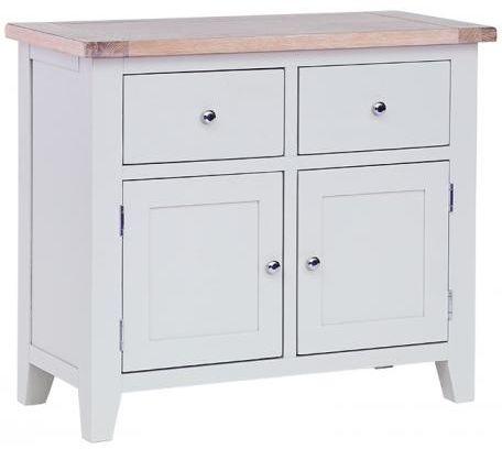 Chalked Oak and Light Grey Buffet - 2 Drawer 2 Door