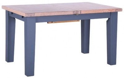 Chalked Oak and Downpipe Rectangular Extending Dining Table
