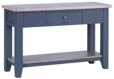 Chalked Oak and Downpipe 1 Drawer Hall Table