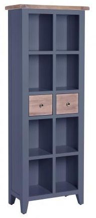 Chalked Oak and Downpipe 2 Drawer Bookcase
