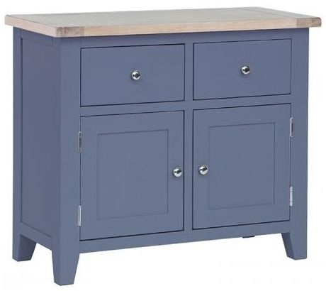 Chalked Oak and Downpipe 2 Door 2 Drawer Buffet Sideboard - DCW118B
