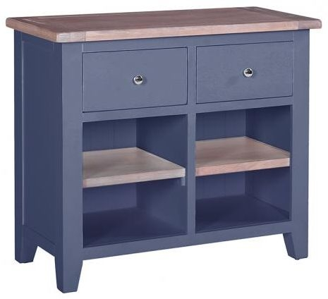 Chalked Oak and Downpipe 2 Drawer Buffet Sideboard