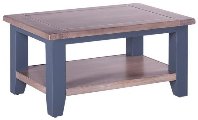 Chalked Oak and Downpipe Coffee Table - Rectangular