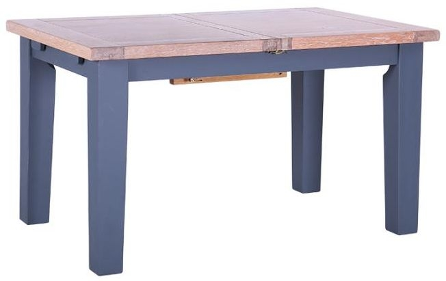 Chalked Oak and Downpipe Dining Table - Extending