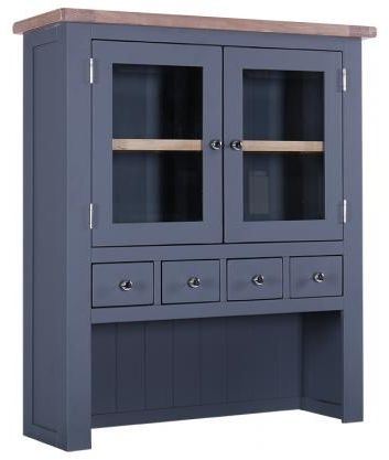 Chalked Oak and Downpipe 2 Door 4 Drawer Hutch