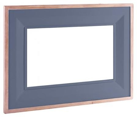 Chalked Oak and Downpipe Rectangular Mirror