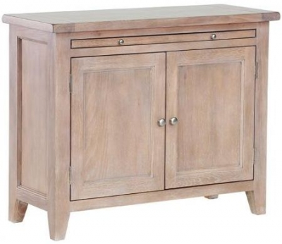 Chalked Oak Cabinet - 2 Door with Pull Out Desk