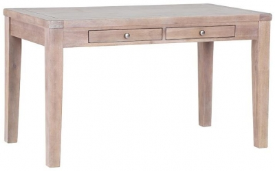 Chalked Oak Cafe Table - Rectangular