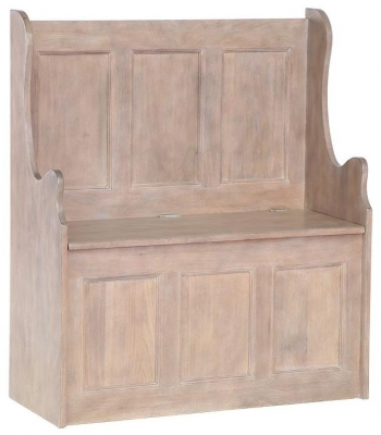 Chalked Oak Monks Bench