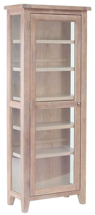 Chalked Oak Glazed Display Unit