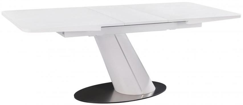 White Counter Balance Extending Dining Table