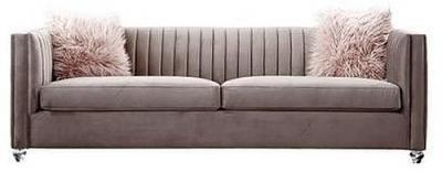 Crawford Pink 3 Seater Fabric Sofa