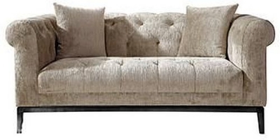 Harlow Tufted 2 Seater Fabric Sofa