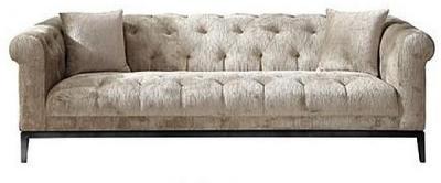 Harlow Tufted 3 Seater Fabric Sofa
