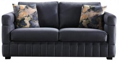 Navy 2 Seater Fabric Sofa