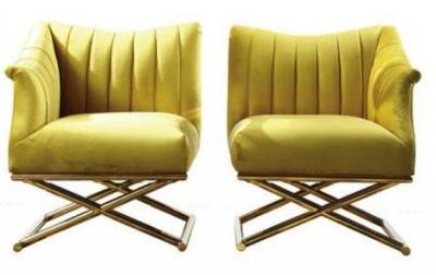 Dietrich Cross Base Side Chair (Pair)