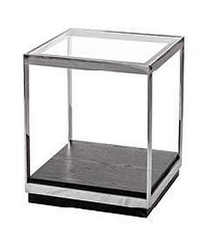 Crawford End Table - Glass and Metal