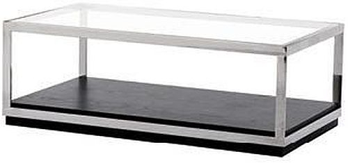 Fitzgerald Coffee Table - Glass and Metal