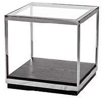 Fitzgerald End Table - Glass and Metal